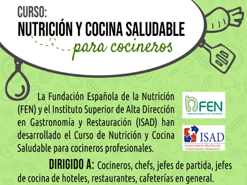 Curso de Nutrición y Cocina Saludable para Cocineros