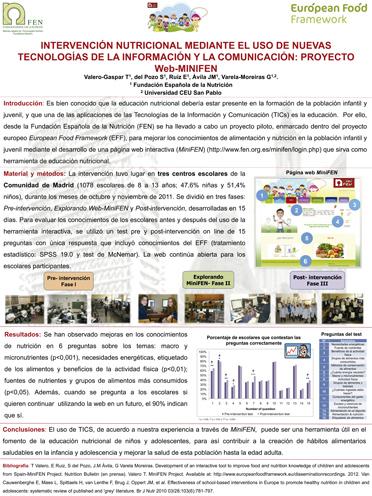 Intervención nutricional mediante el uso de nuevas tecnologías de la información y la comunicación: proyecto Web-MiniFEN