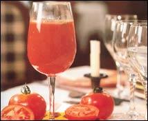 Agua de tomate con menta
