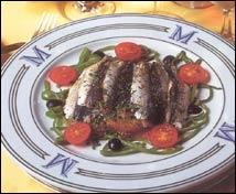 Sardinas del Mediterráneo sobre tortita de patata