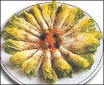 Cogollicos de la ribera en salsa templada