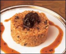 La torta del Casar en arroz cremoso con trufas
