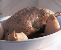 Pato con peras de Puigcerdà