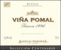 Viña Pomal Selección Centenario Reserva (1996)