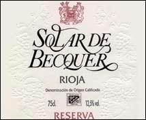 Solar de Becquer Reserva
