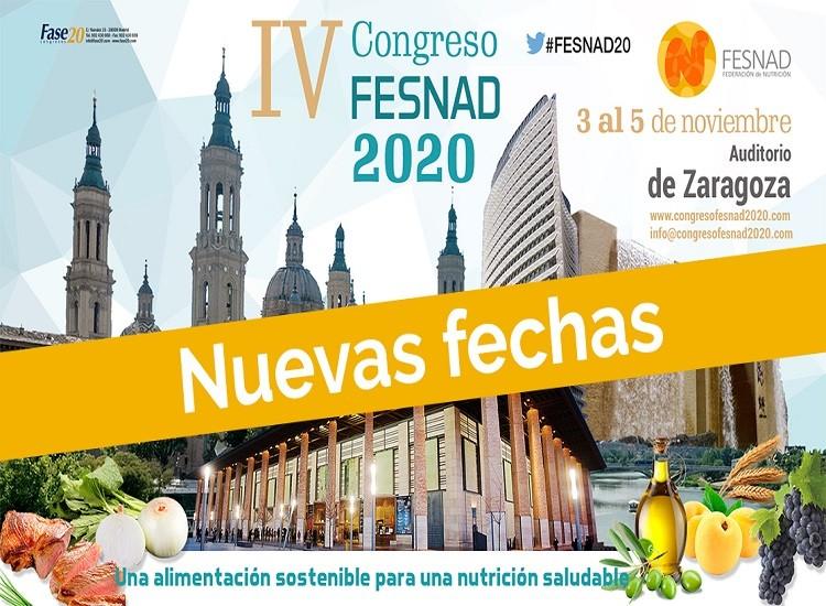 IV Congreso FESNAD 2020. Una alimentación sostenible para una alimentación saludable